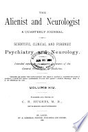 The Alienist and Neurologist