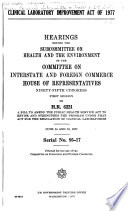 Clinical Laboratory Improvement Act of 1977