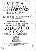 Vita Del Cavalier Gio  Lorenzo Bernini