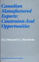 Canadian Manufactured Exports: Constraints and Opportunities