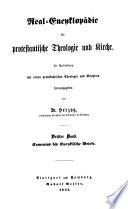 Real-Encyklopädie für protestantische Theologie und Kirche