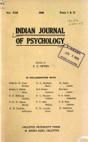 Indian Journal of Psychology