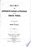 Virchows Archiv F  r Pathologische Anatomie und Physiologie und F  r Klinische Medizin Book