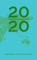 World Map 2020 Weekly Planner   Notebook