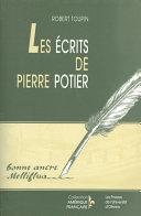 Pdf Les Écrits de Pierre Potier Telecharger