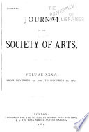 Journal of the Royal Society of Arts ...