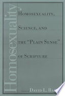 Homosexuality Science And The Plain Sense Of Scripture