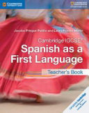 Books - Cambridge Igcse� Spanish As A First Language Teacher�s Book | ISBN 9781316632970