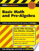 CliffsStudySolverTM Basic Math and Pre-Algebra