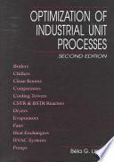 Optimization of Industrial Unit Processes, Second Edition