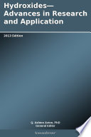 Hydroxides Advances In Research And Application 2013 Edition Book PDF
