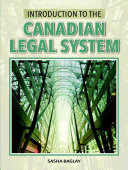 Introduction to the Canadian Legal System,