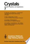Analytical Methods High Melting Metals
