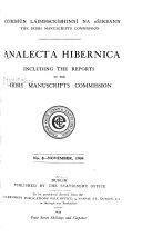 Analecta Hibernica Book