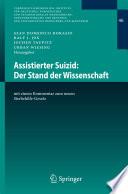 Assistierter Suizid  Der Stand der Wissenschaft Book