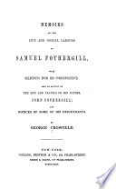 Memoirs Of The Life And Gospel Labours Of Samuel Fothergill