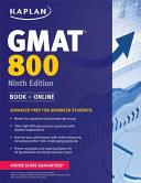 Kaplan GMAT 800 Book
