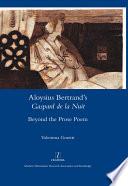 Aloysius Bertrand's Gaspard de la Nuit Beyond the Prose Poem