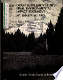Shasta Trinity National Forest  N F    Mt Shasta Ski Area Development Plan Book