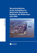 Recommendations of the Committee for Waterfront Structures