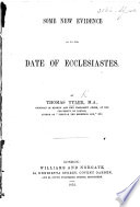 Some New Evidence as to the Date of Ecclesiastes Book PDF