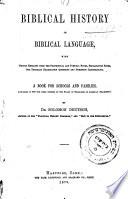 Biblical History in Biblical Language