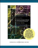 Cover of Systems Analysis and Design for the Global Enterprise