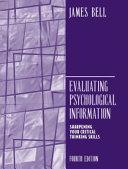 Evaluating Psychological Information Book