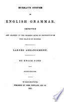 Murray's System of English Grammar
