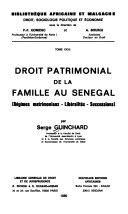 Droit patrimonial de la famille au Sénégal