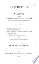 Smithfield  A letter to Sir G  Grey