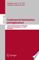 Combinatorial Optimization and Applications Book