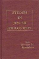 Studies in Jewish Philosophy
