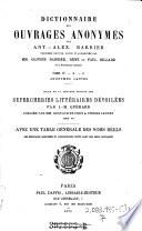 Dictionnaire des ouvrages anonymes