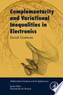 Complementarity and Variational Inequalities in Electronics Book