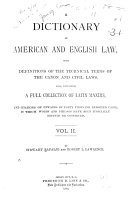 A Dictionary of American and English Law