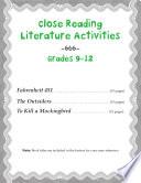 Close Reading Literature Activities For Grades 9 12