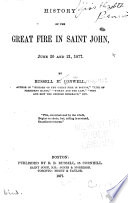 History Of The Great Fire In Saint John June 20 And 21 1877