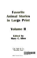 Favorite Animal Stories In Large Print
