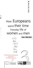 Pdf How Europeans Spend Their Time