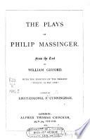 The Plays Of Philip Massinger
