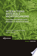 Interactions Materials   Microorganisms Book