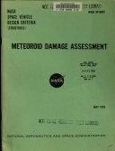 Meteoroid Damage Assessment   Space Vehicle Design Criteria