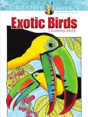 Creative Haven Exotic Birds Coloring Book