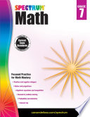 Spectrum Math Workbook  Grade 7