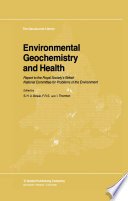 Environmental Geochemistry and Health Book