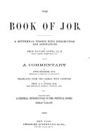 A Commentary on the Holy Scriptures  Job