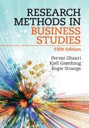 Research Methods in Business Studies
