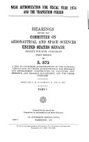 NASA Authorization for Fiscal Year 1976 and the Transition Period