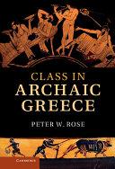 Class in Archaic Greece